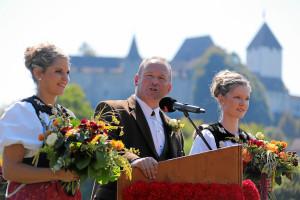 ESAF 2013 Burgdorf: Andreas Aebi spricht auf der Schuetzenmatte