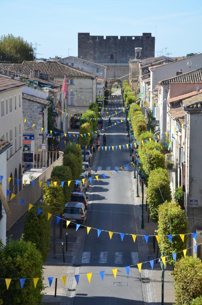 Blick in die Altstadt von Aigues Mortes