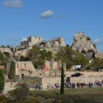 Blick auf die Burgruine in Les Baux